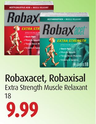Robaxacet - Robaxisal Extra Strength Muscle Relaxant 18