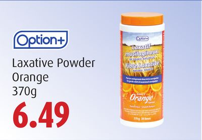 Option+ Laxative Powder   Orange