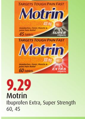 Motrin Ibuprofen Extra - Super Strength