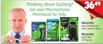 Nicorette Stop Smoking Aid or Nicorette Quick Mist