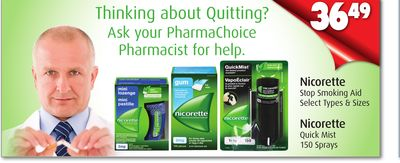 Nicorette Stop Smoking Aid or Quick Mist 150 Sprays