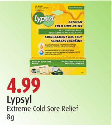 Lypsyl Extreme Cold Sore Relief