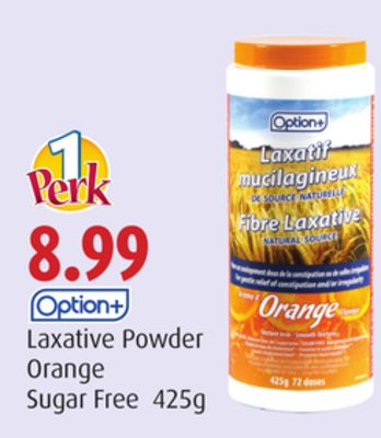 Option+ Laxative Powder Orange Sugar Free