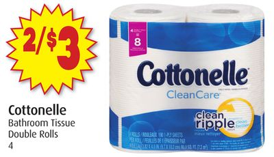 Cottonelle Bathroom Tissue Double Rolls