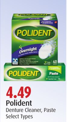 Polident Denture Cleaner - Paste