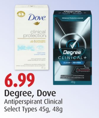 Degree - Dove Antiperspirant Clinical
