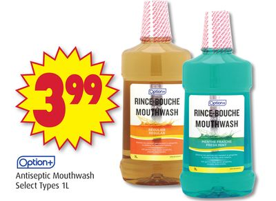 Option+ Antiseptic Mouthwash