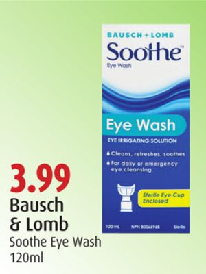 Bausch & Lomb Soothe Eye Wash