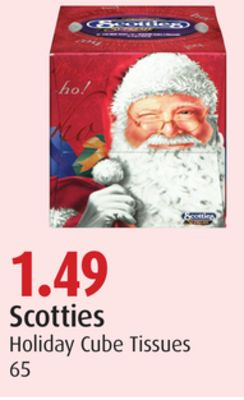 Scotties Holiday Cube Tissues