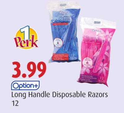 Option+ Long Handle Disposable Razors