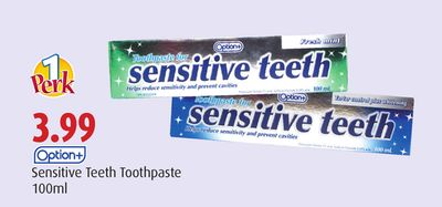 Option+ Sensitive Teeth Toothpaste