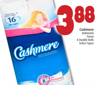 Cashmere Bathroom Tissue 8 Double Rolls Select Types