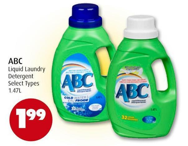 Abc Liquid Laundry Detergent