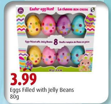 Eggs Filled With Jelly Beans
