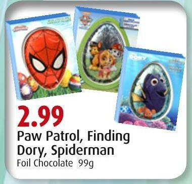 Paw Patrol - Finding Dory - Spiderman