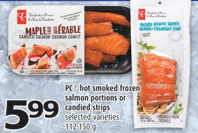 Pc hot smoked frozen salmon portions on sale for Can you freeze smoked fish
