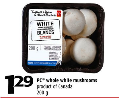 how to cook whole white mushrooms