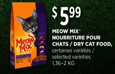 Meow Mix Dry Cat Food Ingredients