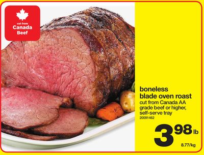how to cook a boneless blade roast in the oven