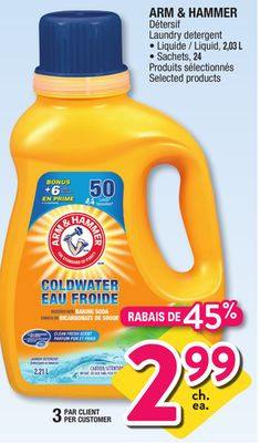 Shopping Tips for Arm & Hammer: 1. Most retailers offer this brand of laundry detergent with a Buy One, Get One free deal every few months. When combined with .