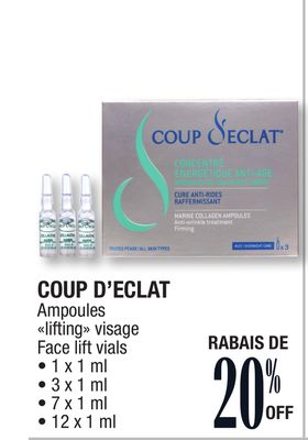 coup d 39 eclat face lift vials selected on sale. Black Bedroom Furniture Sets. Home Design Ideas