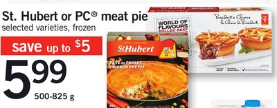 St. Hubert Or PC Meat Pie - 500-825 g