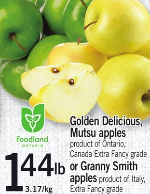 Golden Delicious - Mutsu Apples Or Granny Smith Apples