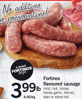 Fortinos Flavoured Sausage