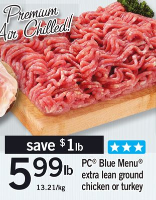 PC Blue Menu Extra Lean Ground Chicken Or Turkey