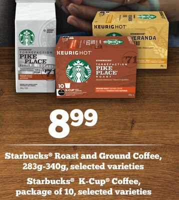 Starbucks Roast And Ground Coffee - 283g-340g - Starbucks K-cup Coffee - Package of 10