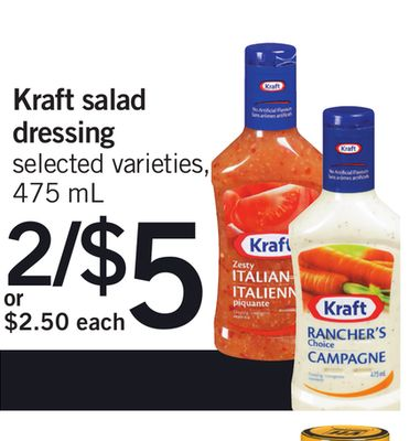 Kraft Salad Dressing - 475 mL