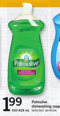 Palmolive Dishwashing Soap - 650-828 mL