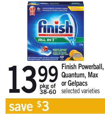 Finish Powerball - Quantum - Max Or Gelpacs - Pkg of 38-60