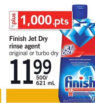 Finish Jet Dry Rinse Agent - 500/621 mL