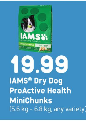 Iams Dry Dog Proactive Health Minichunks - 5.6 Kg - 6.8 Kg