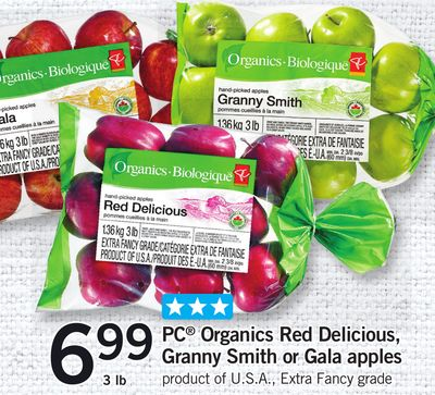 PC Organics Red Delicious - Granny Smith Or Gala Apples - 3 Lb