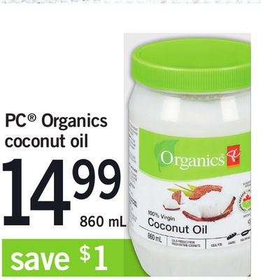 PC Organics Coconut Oil - 860 mL