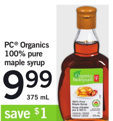 PC Organics 100% Pure Maple Syrup - 375 mL