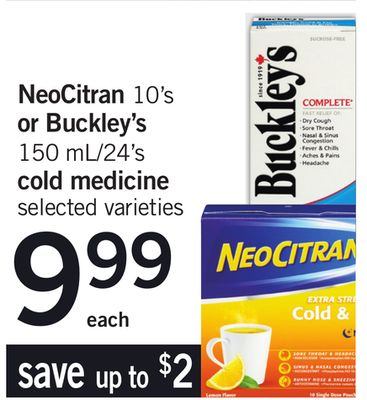 Neocitran - 10's Or Buckley's - 150 Ml/24's Cold Medicine