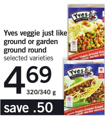 Yves Veggie Just Like Ground Or Garden Ground Round - 320/340 g