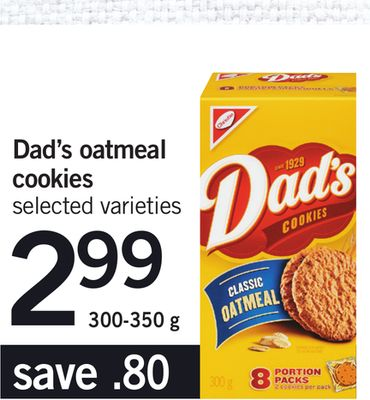 Dad's Oatmeal Cookies - 300-350 g