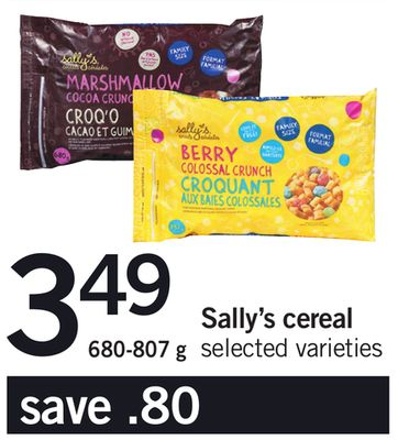 Sally's Cereal - 680-807 g