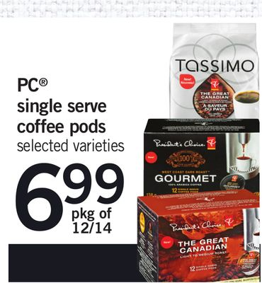PC Single Serve Coffee PODS - Pkg of 12/14