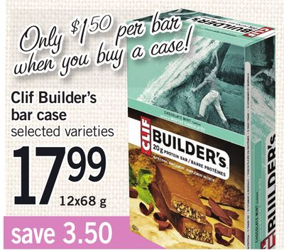 Clif Builder's Bar Case - 12x68 g