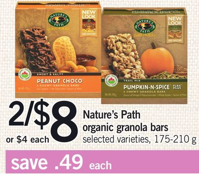 Nature's Path Organic Granola Bars - 175-210 g