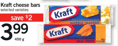Kraft Cheese Bars - 450 g