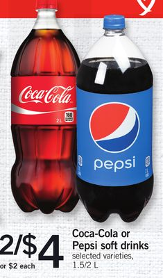 Coca-cola Or Pepsi Soft Drinks - 1.5/2 L