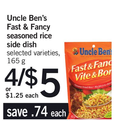 Uncle Ben's Fast & Fancy Seasoned Rice Side Dish - 165 g