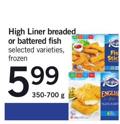 High Liner Breaded Or Battered Fish - 350-700 g
