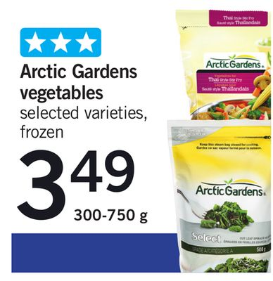 Arctic Gardens Vegetables - 300-750 g